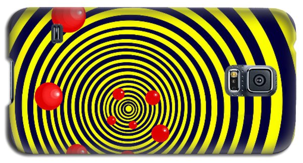 Summer Red Balls With Yellow Spiral Galaxy S5 Case