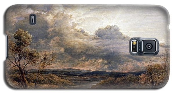 Sun Behind Clouds Galaxy S5 Case by John Linnell