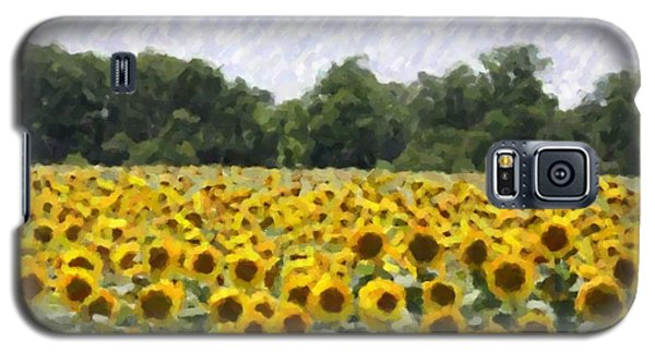 Galaxy S5 Case featuring the photograph Sunflower Field by Donna  Smith