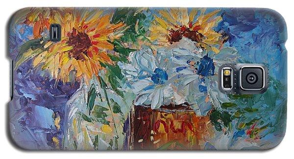 Sunflower Still Life Two Galaxy S5 Case by Carol Berning