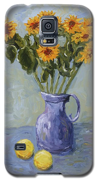 Sunflowers And Lemons Galaxy S5 Case
