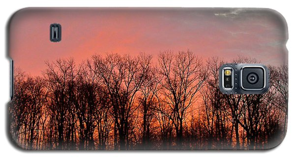 Galaxy S5 Case featuring the photograph Sunrise Behind The Trees by Mark Dodd