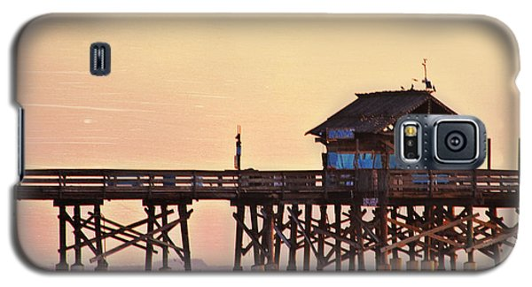 Galaxy S5 Case featuring the photograph Sunrise On Rickety Pier by Janie Johnson