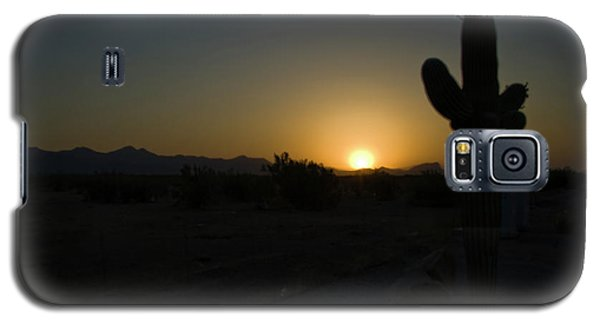 Galaxy S5 Case featuring the photograph Sunrise Saguaro by Tom Singleton