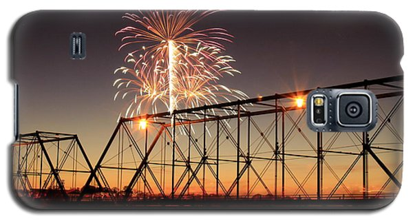 Sunset And Fireworks Galaxy S5 Case