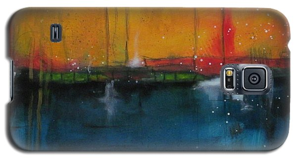 Galaxy S5 Case featuring the painting Sunset At The Lake  # 1 by Nicole Nadeau