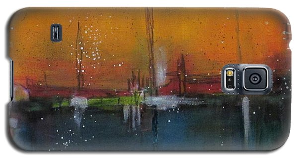 Galaxy S5 Case featuring the painting Sunset At The Lake # 2 by Nicole Nadeau