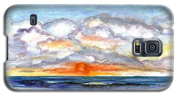 Galaxy S5 Case featuring the painting Sunset Clouds by Clara Sue Beym