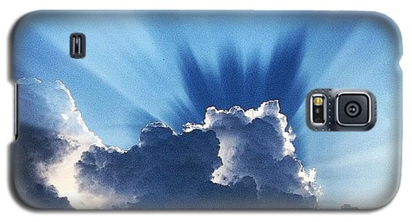 #sunset #clouds #weather #rays #light Galaxy S5 Case