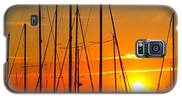 Sunset In A Harbour Digital Photo Painting Galaxy S5 Case
