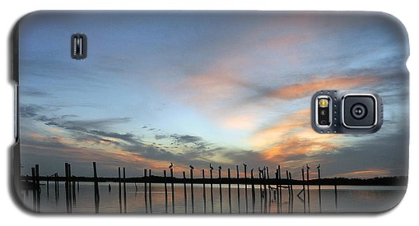 Galaxy S5 Case featuring the photograph sunset marina Everglades by Dan Friend