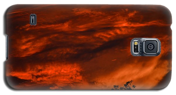 Galaxy S5 Case featuring the photograph Sunset Over Altoona by DigiArt Diaries by Vicky B Fuller