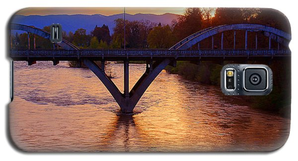 Sunset Over Caveman Bridge Galaxy S5 Case by Mick Anderson