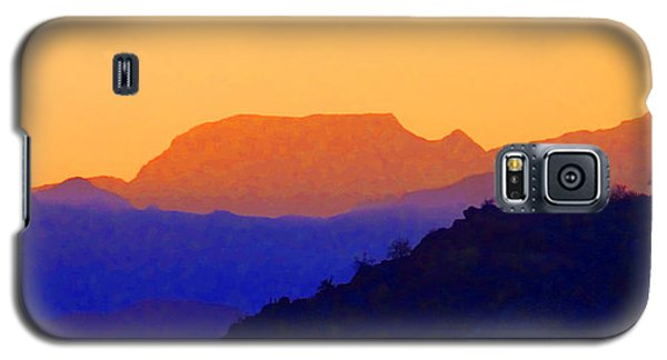 Sunset Over The Sierra Gigantes Galaxy S5 Case by Anne Mott