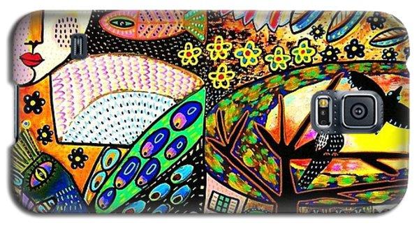 -sunset Peacock Goddess Galaxy S5 Case