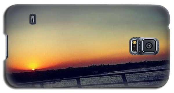 #sunset #rainbow #cool #bridge #driving Galaxy S5 Case
