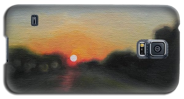 Galaxy S5 Case featuring the painting Sunset Road by Jindra Noewi