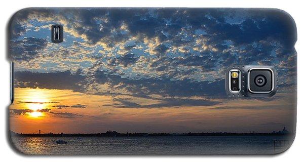 Galaxy S5 Case featuring the photograph Sunset Rockaway Point Pier by Maureen E Ritter