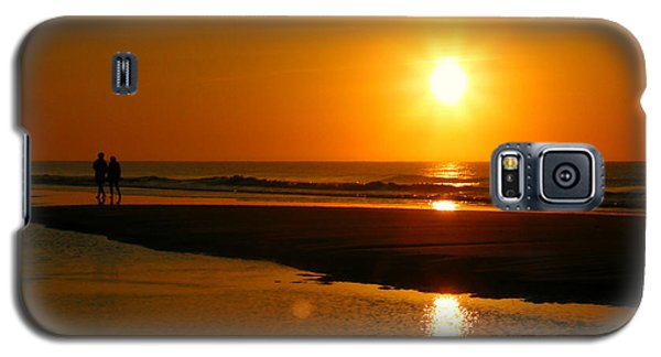 Galaxy S5 Case featuring the photograph Sunset Stroll by Mark J Seefeldt
