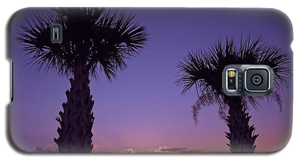 Galaxy S5 Case featuring the photograph Sunset Through The Palms by Brian Wright