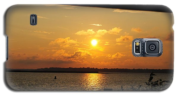Galaxy S5 Case featuring the photograph Sunset Through The Rails by Michael Frank Jr