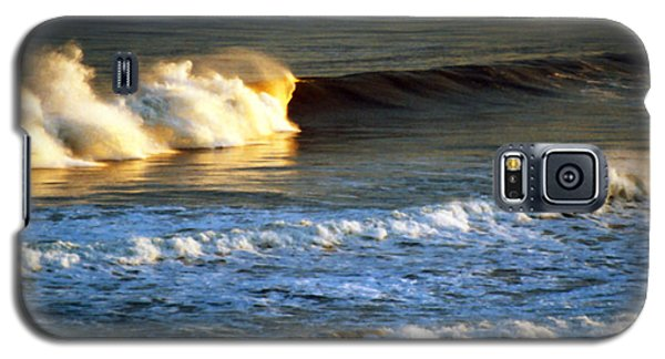 Galaxy S5 Case featuring the photograph Sunset Wave Rockaway Beach Nyc by Maureen E Ritter