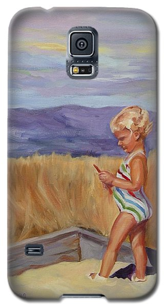 Galaxy S5 Case featuring the painting Sunshine And Shadows by Carol Berning
