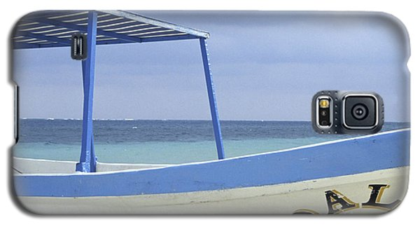 Galaxy S5 Case featuring the photograph Surrealist Fishing Boat Riviera Maya Mexico by John  Mitchell