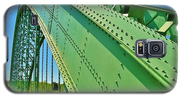 Galaxy S5 Case featuring the photograph Suspension Bridge by Sherman Perry
