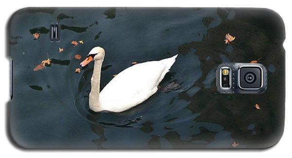Galaxy S5 Case featuring the photograph Swan In Autumn by Kathleen Pio