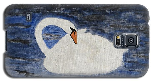 Galaxy S5 Case featuring the painting Swan  by Sonali Gangane