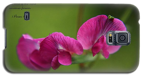 Sweet Pea Flower Galaxy S5 Case