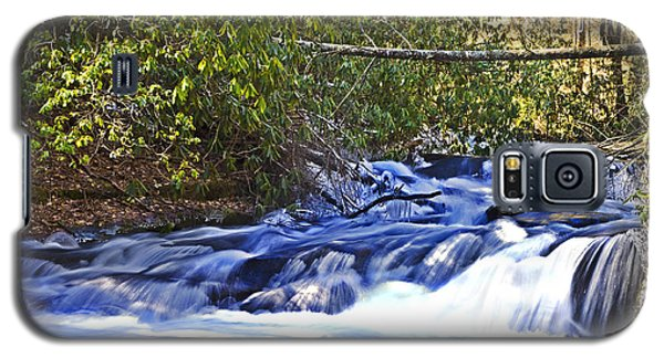 Galaxy S5 Case featuring the photograph Swiftly Flowing River by Susan Leggett