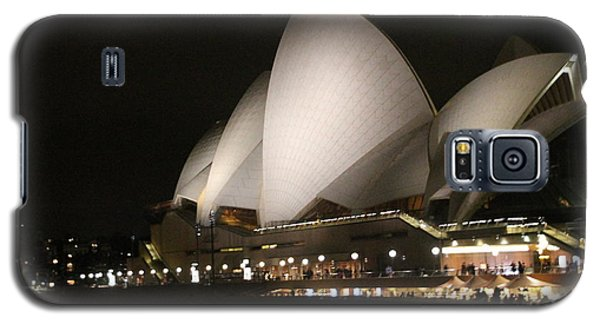Galaxy S5 Case featuring the photograph Sydney Opera House At Night by Laurel Talabere