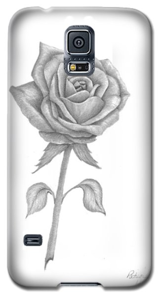 Galaxy S5 Case featuring the drawing Symbol Of Love by Patricia Hiltz