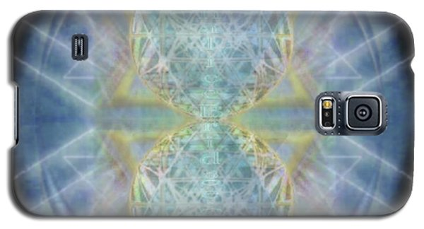 Galaxy S5 Case featuring the digital art Synthecentered Chalice In Ovoid On Black by Christopher Pringer
