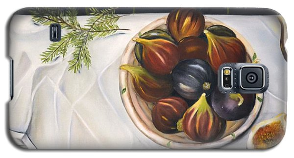 Galaxy S5 Case featuring the painting Table With Figs by Carol Sweetwood