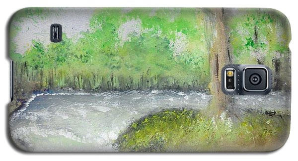 Galaxy S5 Case featuring the painting Take Me To The River by Carol Duarte