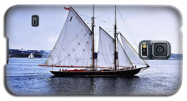 Tall Ship Sail By  Galaxy S5 Case by Elaine Manley