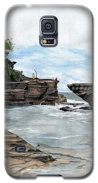 Galaxy S5 Case featuring the painting Tanah Lot Temple II Bali Indonesia by Melly Terpening