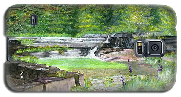 Galaxy S5 Case featuring the painting Taughannock Vista Ithaca New York by Melly Terpening