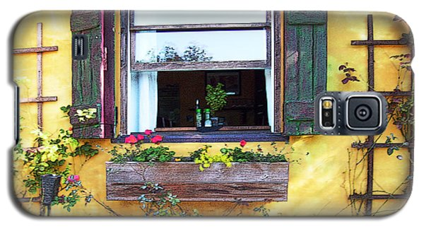 Galaxy S5 Case featuring the photograph Tavern Window by Ginny Schmidt