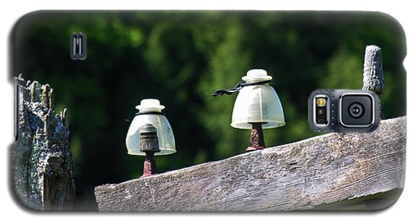 Galaxy S5 Case featuring the photograph Telephone Pole And Insulators by Sherman Perry
