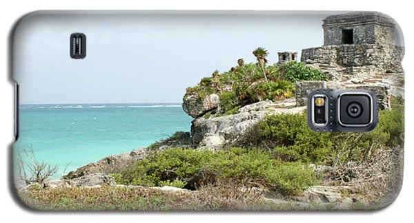Galaxy S5 Case featuring the photograph Temple Of The Wind God Tulum Mexico by John  Mitchell