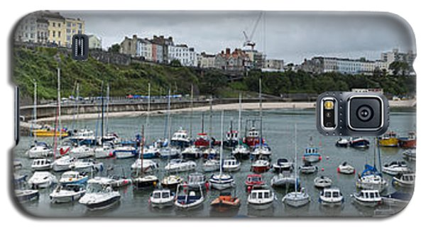 Galaxy S5 Case featuring the photograph Tenby Harbour Panorama by Steve Purnell