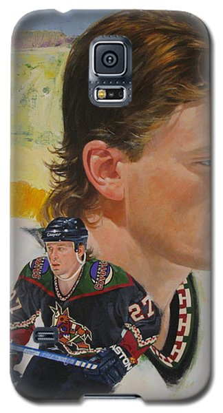 Galaxy S5 Case featuring the painting Teppo Numminen by Cliff Spohn