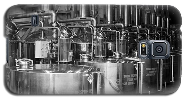 Galaxy S5 Case featuring the photograph Tequilera S.s. Distillation Tanks by Lynn Palmer