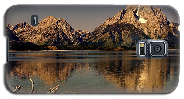Galaxy S5 Case featuring the photograph Teton Panoramic by Marty Koch
