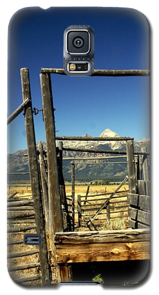 Galaxy S5 Case featuring the photograph Teton Ranch by Marty Koch