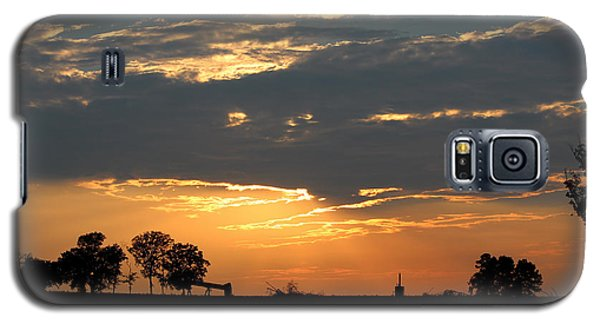 Galaxy S5 Case featuring the photograph Texas Sized Sunset by Kathy  White